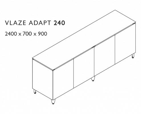Vlaze Adapt 240 Dimensions