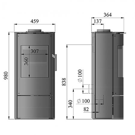 Morso 4043 Dimensions