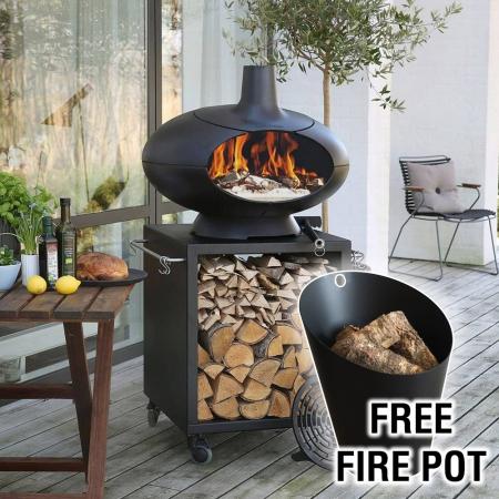 Morso Forno Deluxe Terra Set with Free Fire Pot