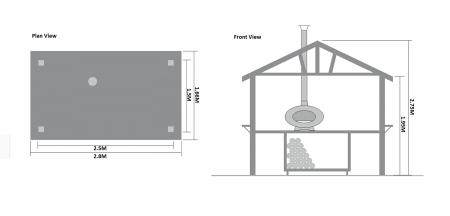 dimensions of the forno hut