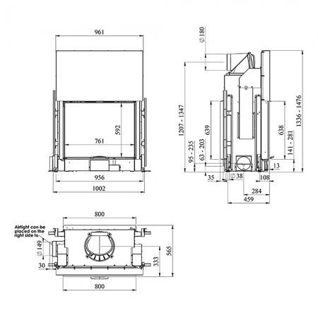 Morso S122-22 Dimensions