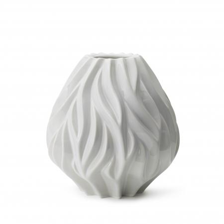 morso flame vase in putty white medium