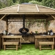 Morso Forno cast iron outdoor oven inside a Forno wooden cabin