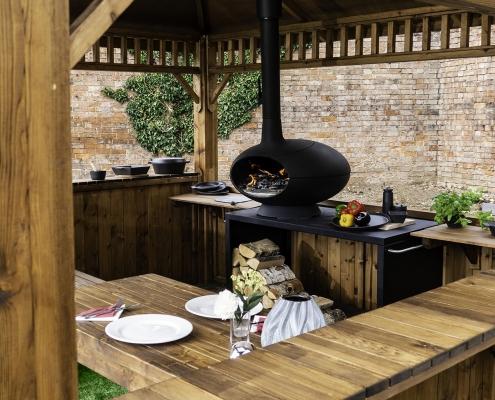 Outdoor cooking cabin - Morso Forno cabin