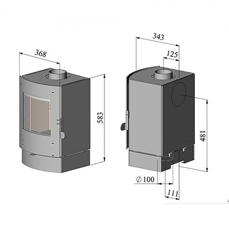 Morso S11-40 Dimensions
