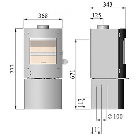 Morso S11-43 Dimensions