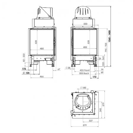 Morso S140-41 Dimensions