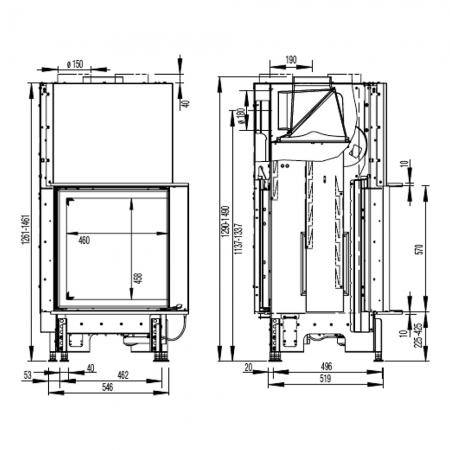 Morso S140-42 dimensions