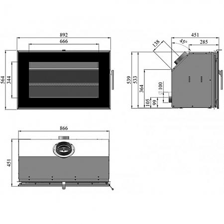 Morso S80-90 Dimensions