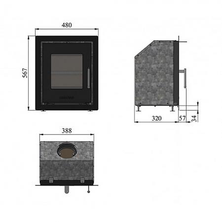 Morso S81-91 Dimensions
